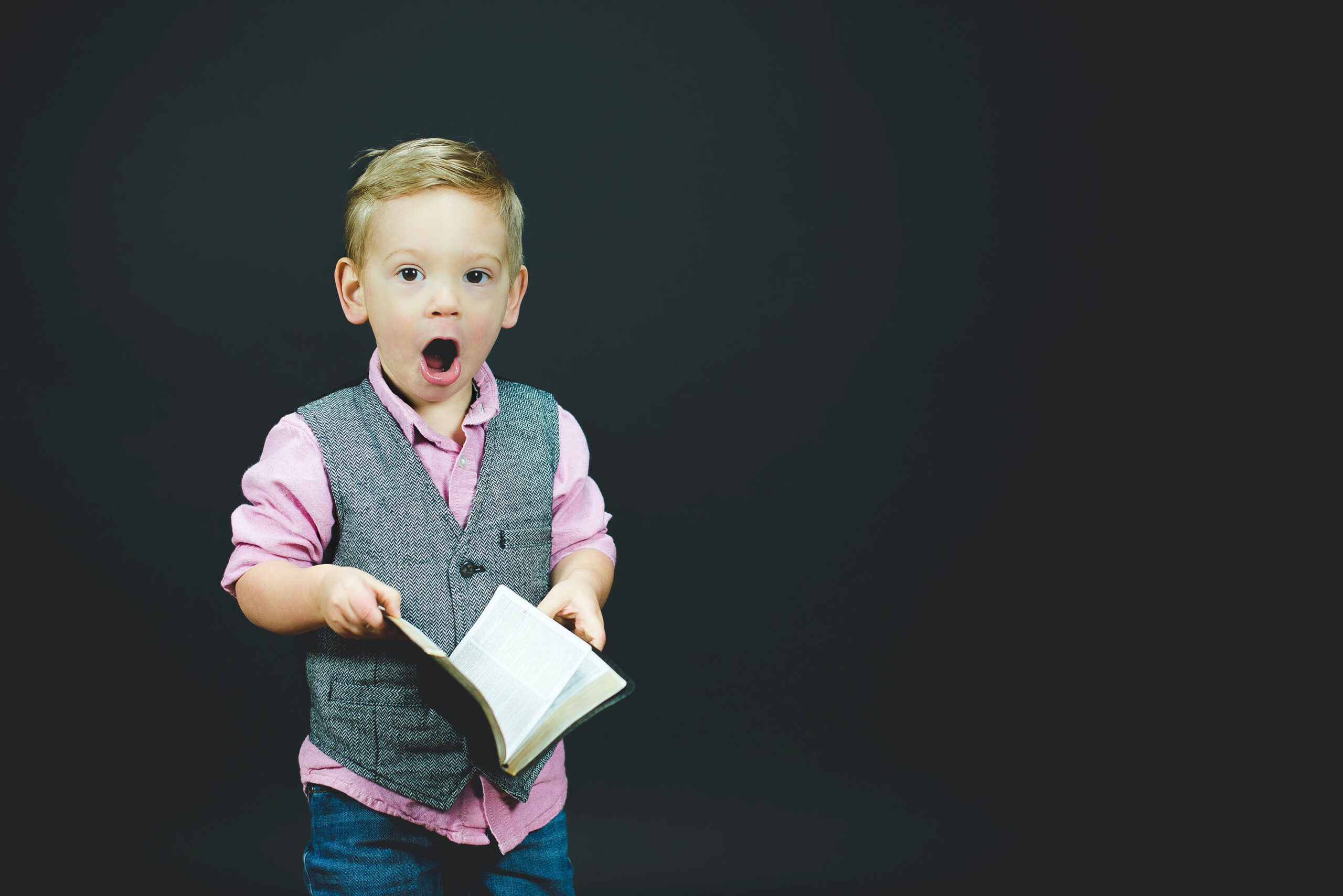 Picture of Boy with book in hands
