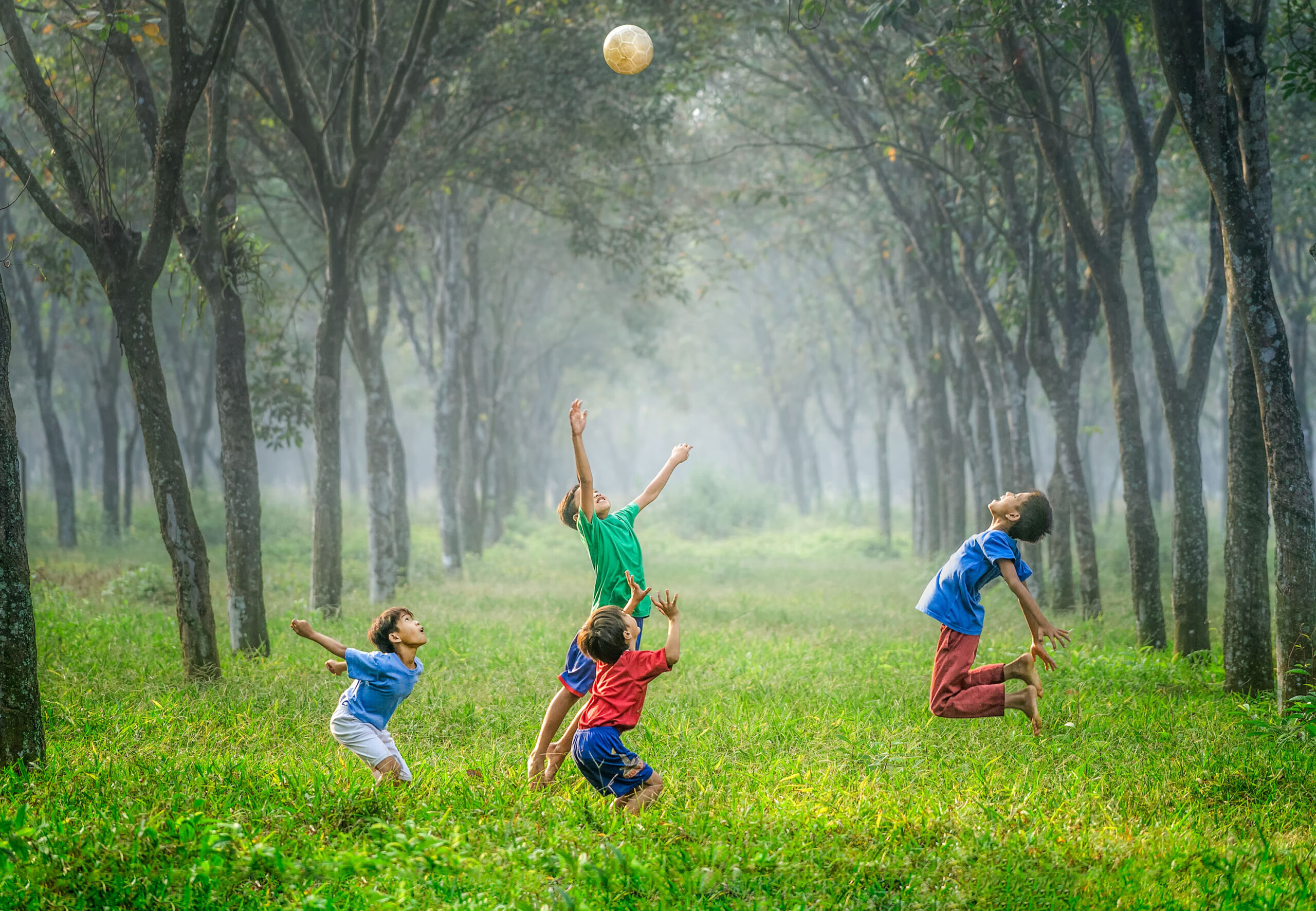 Picture of Children playing football