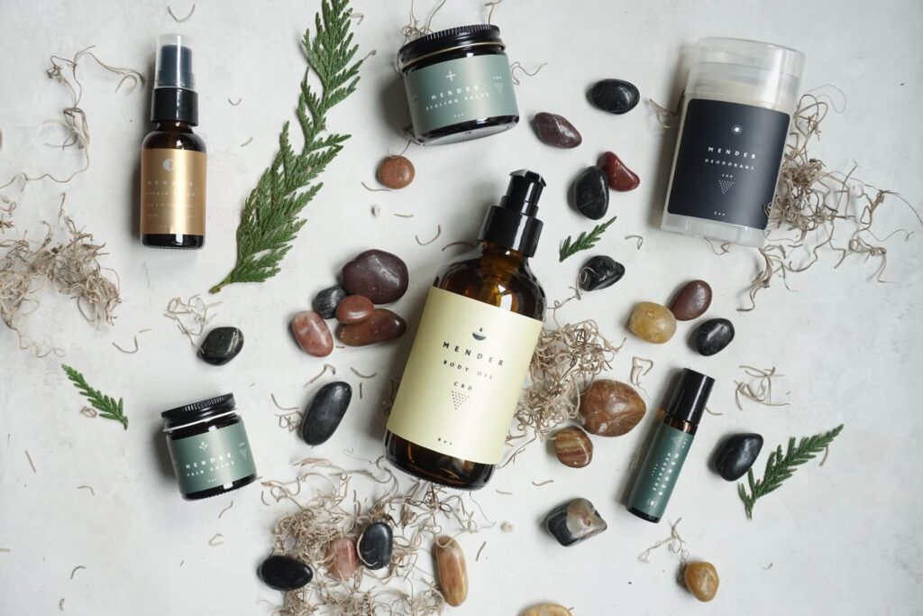 Picture of Organic Skincare Products Nourish Skin
