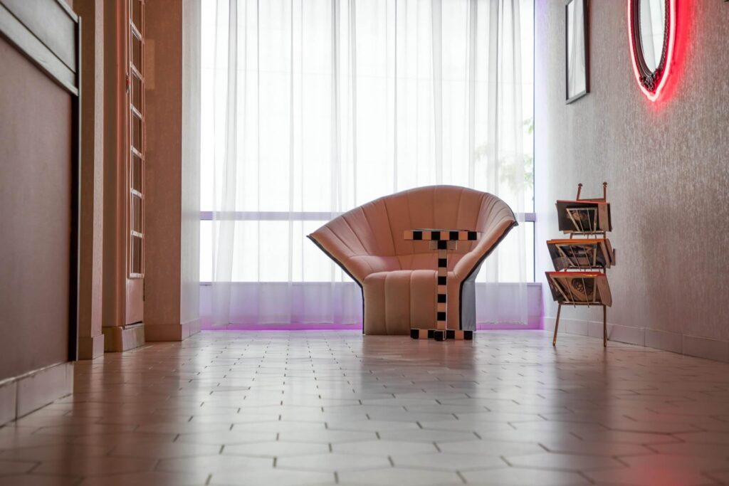 Picture of club chair with window wall