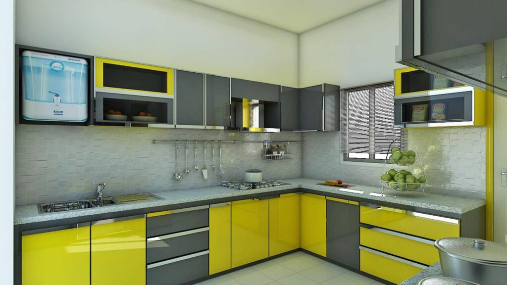 Picture of Amazing Green Color Kitchen - Remodel Idea
