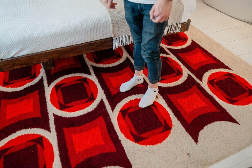 Picture of beautiful red rugs