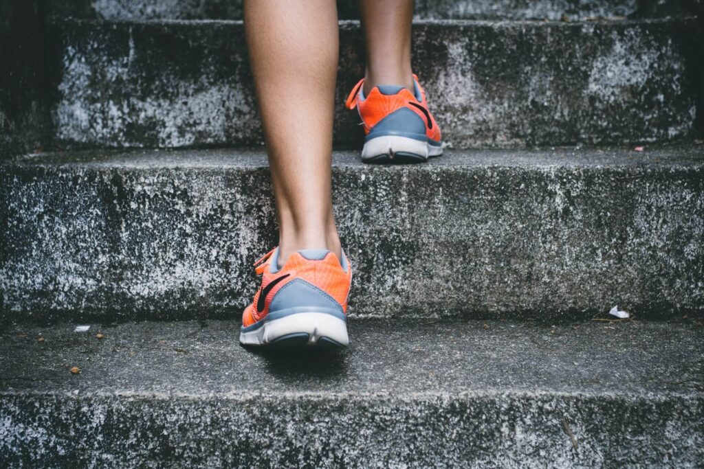 Picture of Healthy Person Running on Stairs